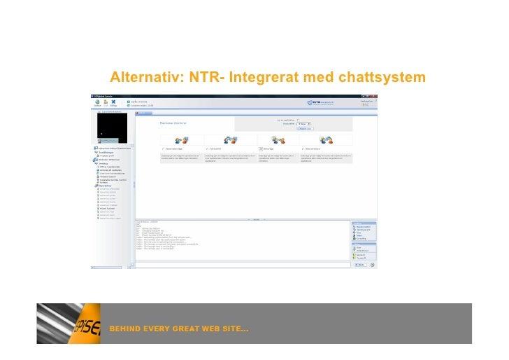 Alternativ: NTR- Integrerat med chattsystem