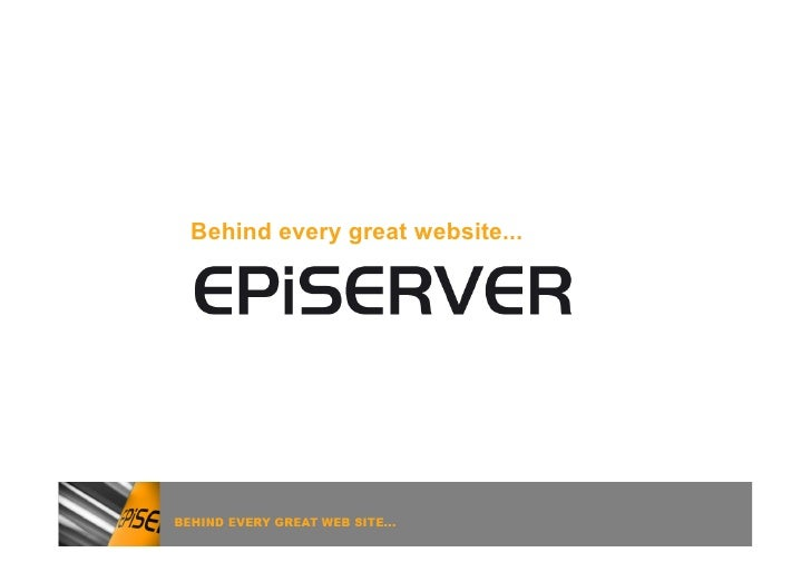 Behind every great website...
