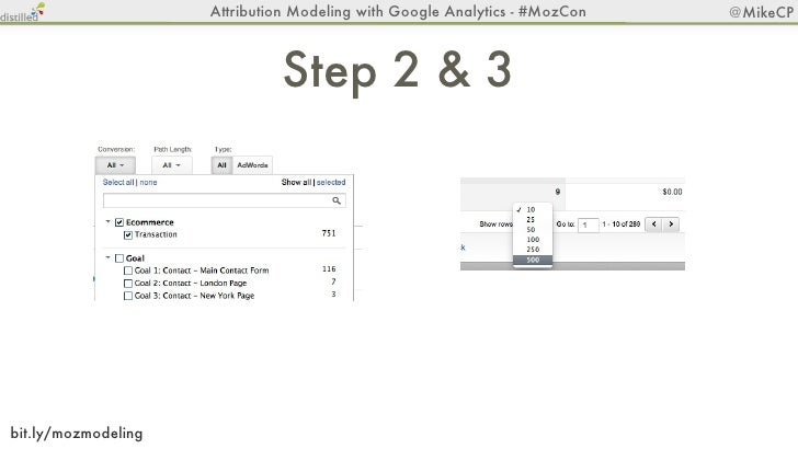 Attribution Modeling with Google Analytics - #MozCon   @MikeCP