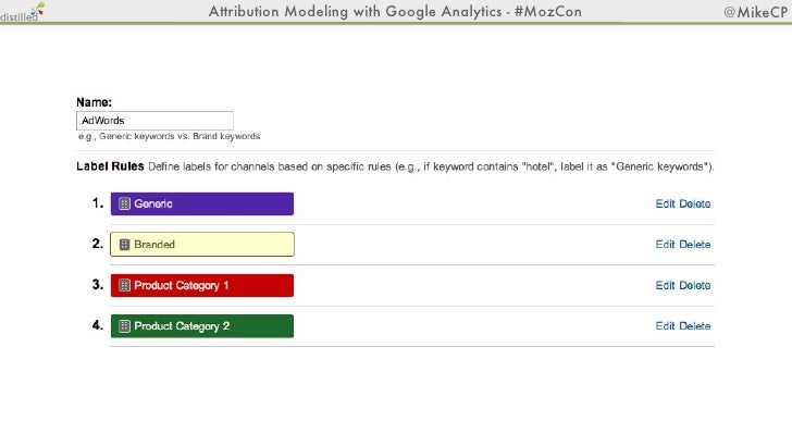 Attribution Modeling with Google Analytics - #MozCon   @MikeCP                                       Now Go Play!@aaron_wh...