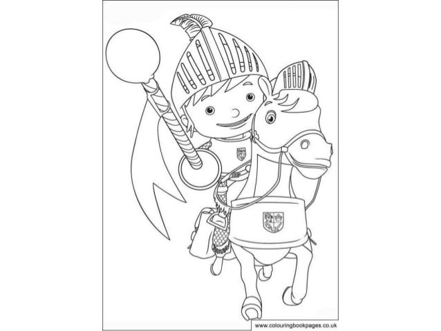 Mike The Knight Colouring Pages And Kids Colouring Activities