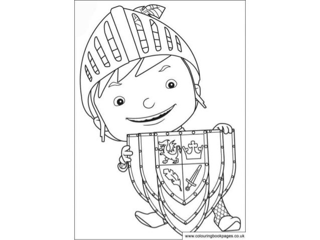 Mike The Knight Colouring Pages And Kids Activities