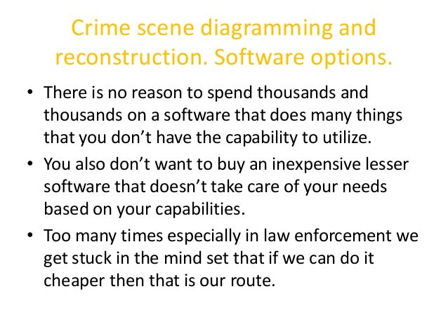 Crime Scene Diagramming and Reconstruction by Det. Mike Anderson