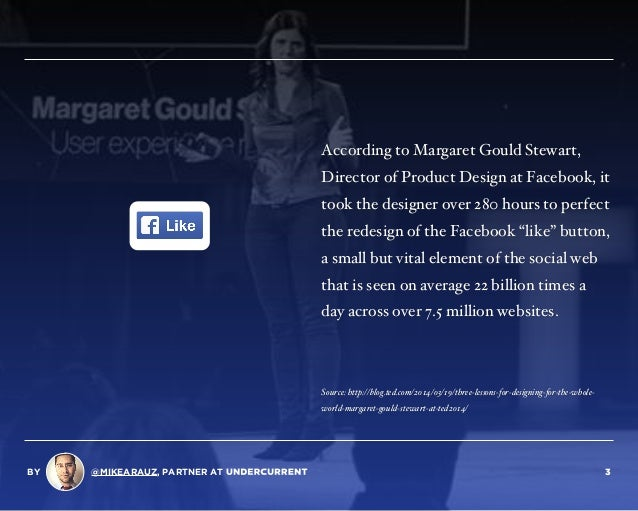 According to Margaret Gould Stewart, Director of Product Design at Facebook, it took the designer over 280 hours to perfec...