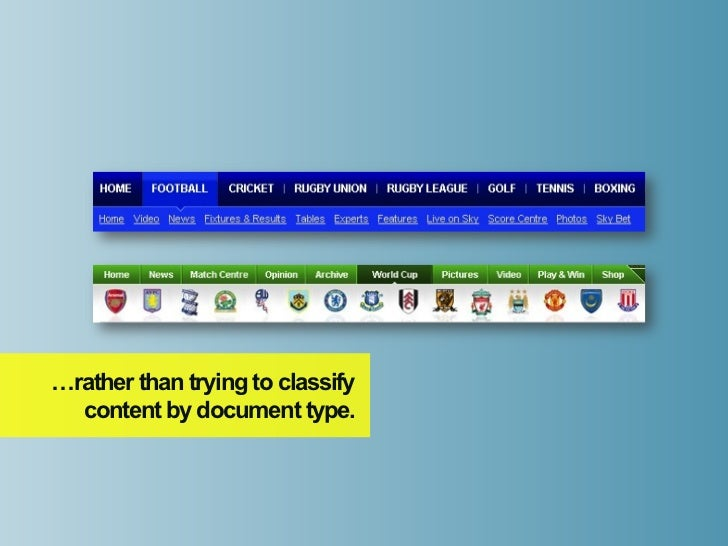 …rather than trying to classify  content by document type.