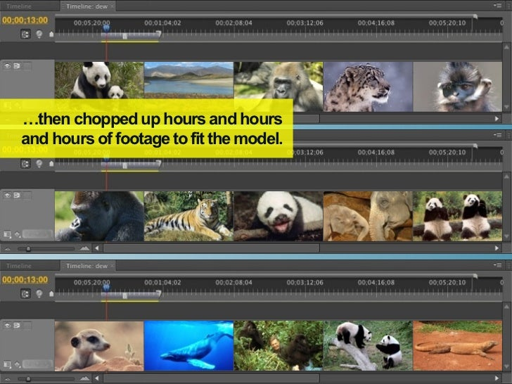 …then chopped up hours and hoursand hours of footage to fit the model.