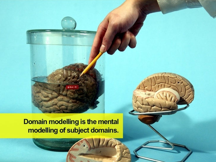 Domain modelling is the mental modelling of subject domains.