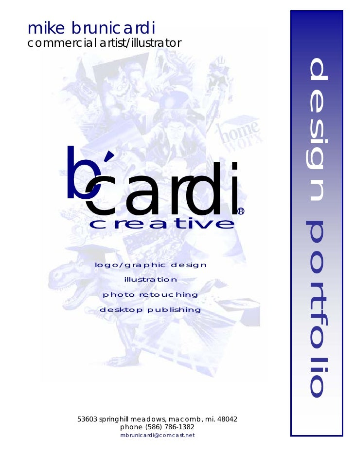 mike brunicardi commercial artist/illustrator                                                                design portfo...