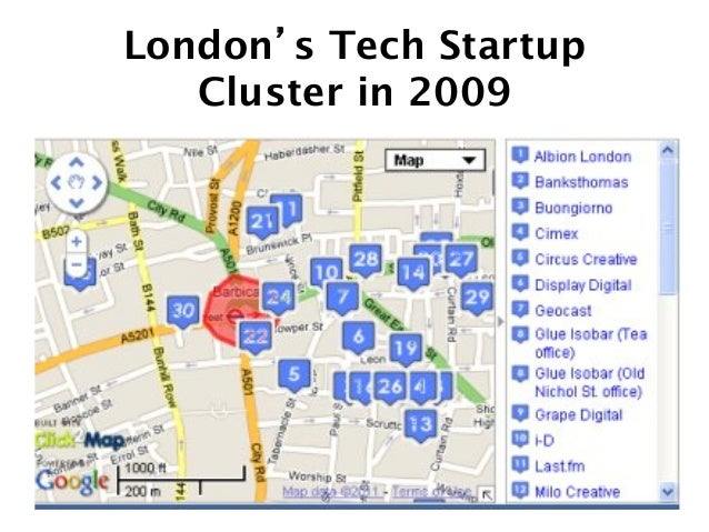 Silicon Roundabout / Tech City 2 years later See http://www.duedil.com/site/london-real-tech-startups