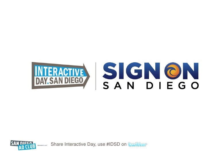 Share Interactive Day, use #IDSD on