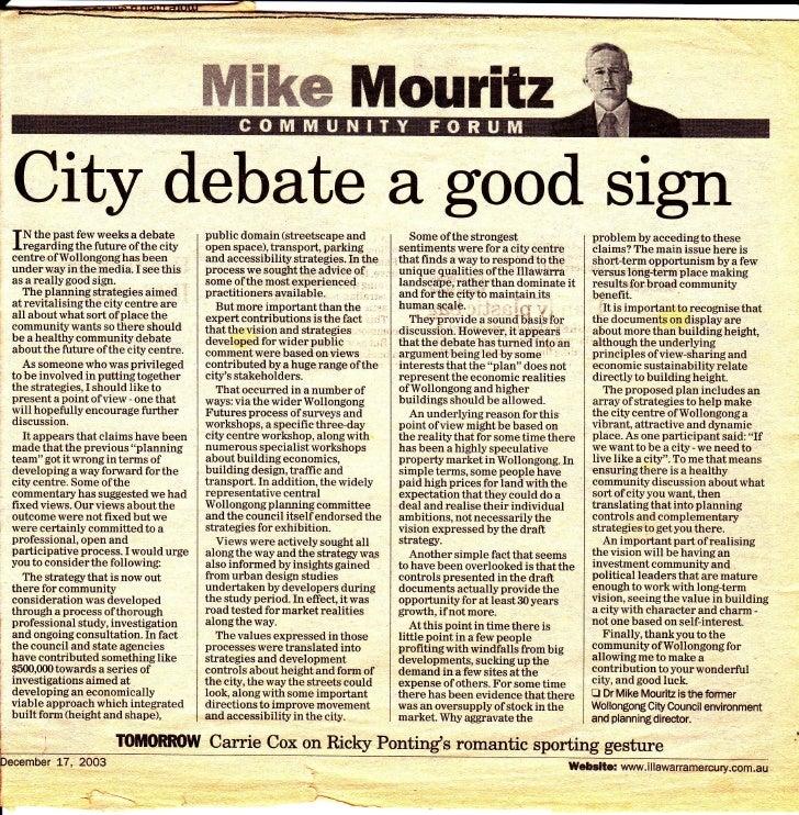 ffiffiMw llilouritxCity debate a good signTN the past few weeks a debate         public domain (streetscape and           ...