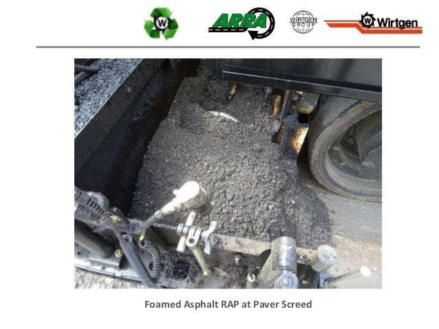 Foamed Asphalt RAP at Paver Screed