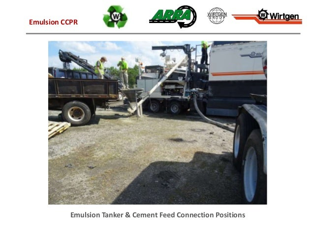 Emulsion Tanker & Cement Feed Connection Positions Emulsion CCPR