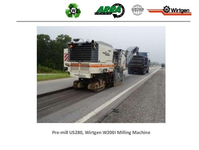 Pre-mill US280, Wirtgen W200i Milling Machine