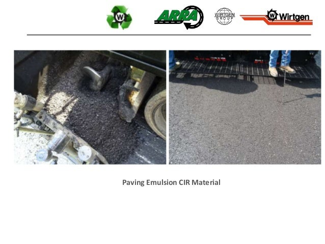 Paving Emulsion CIR Material