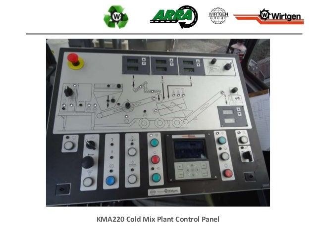 KMA220 Cold Mix Plant Control Panel