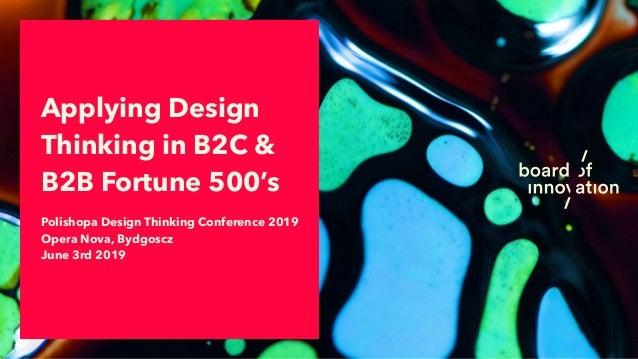 Polishopa Design Thinking Conference 2019 Opera Nova, Bydgoscz June 3rd 2019 Applying Design Thinking in B2C & B2B Fortun...