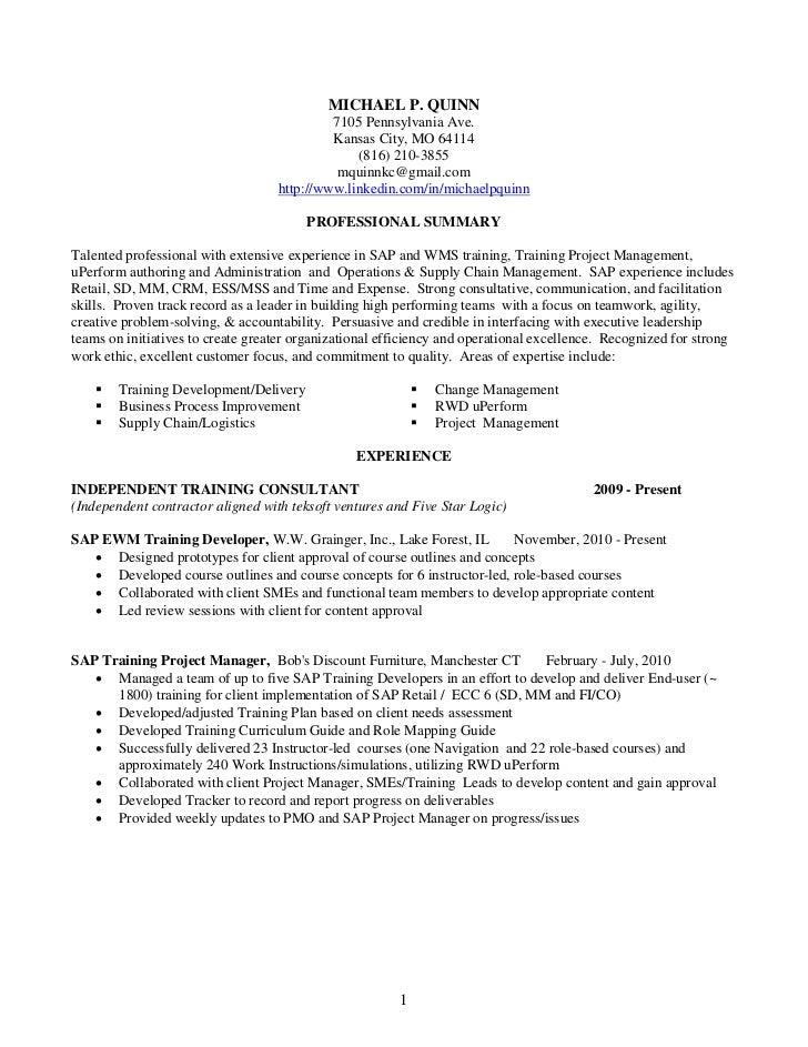mike quinn resume