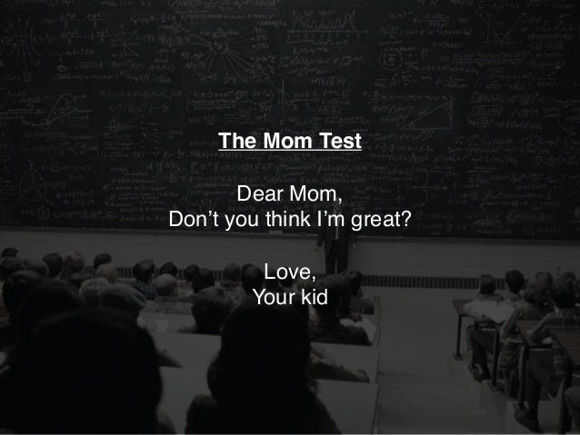 EVERYBODY WILL LIE, NOT JUST YOUR MOM