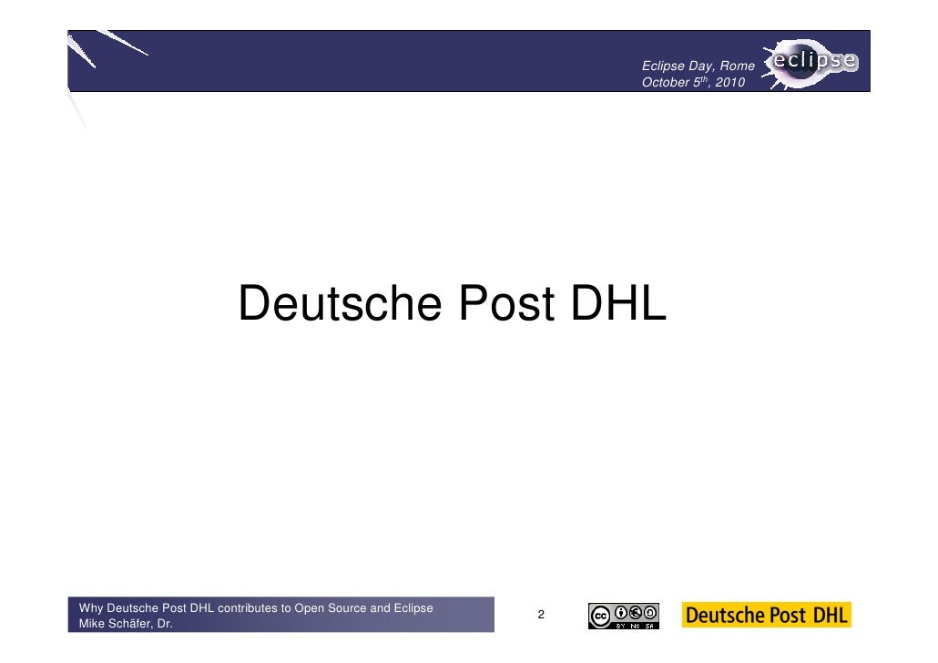 Why Deutsche Post DHL contributes to Open Source and Eclipse