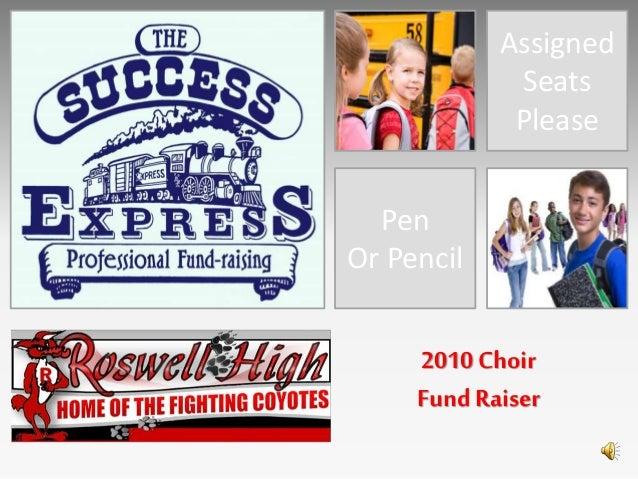 Assigned Seats Please Pen Or Pencil 2010 Choir Fund Raiser