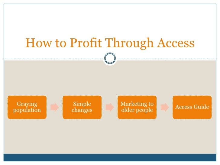 How to Profit Through Access<br />