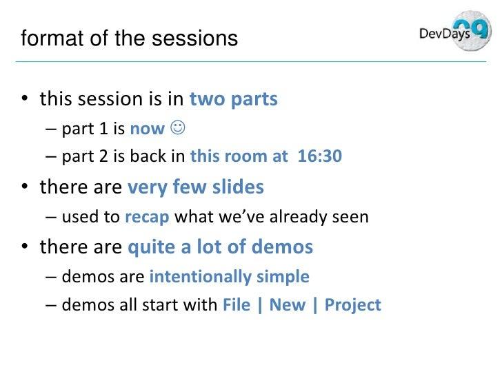 Mike Taulty Silverlight3 Dev Days Part1 Slide 2