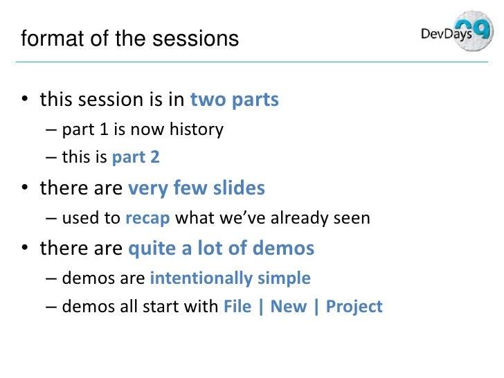 Mike Taulty Silverlight3 Dev Days Part2 Slide 2
