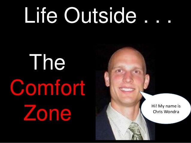 Life Outside . . . TheComfort                Hi! My name is Zone           Chris Wondra