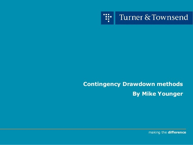 making the difference Contingency Drawdown methods By Mike Younger