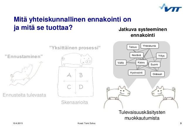 Mikko Dufva, VTT - Foresight Friday 10.4.2015 Slide 3
