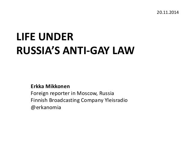 Anti homosexual law russia