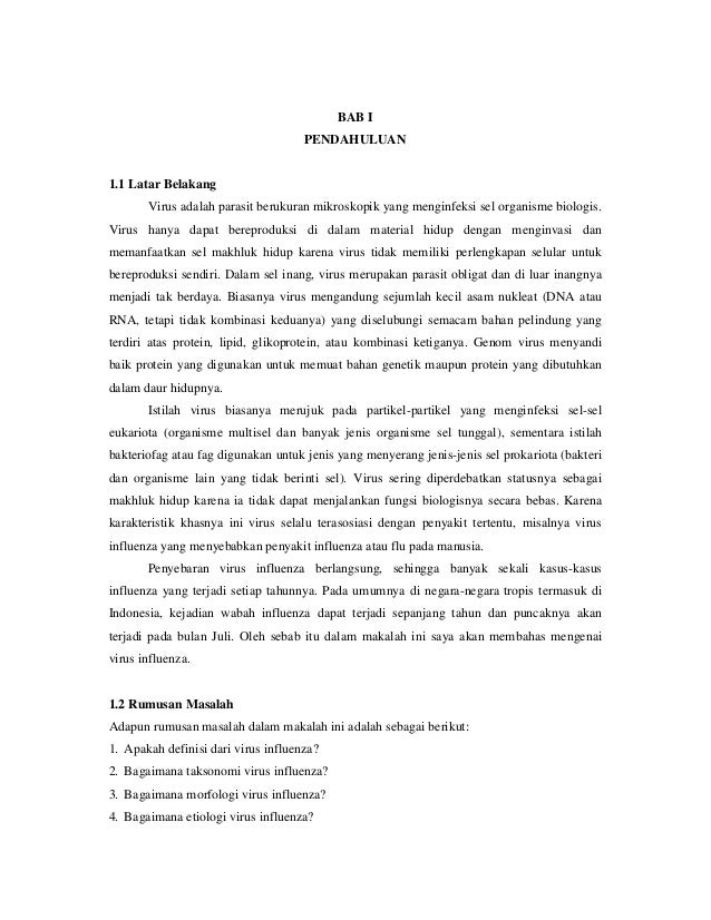 Mikrobiologi Virus Influenza