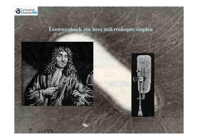 Leeuwenhoek eta bere mikroskopio sinplea