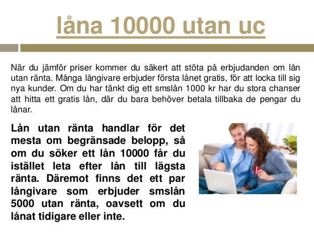 låna 1000kr utan ränta