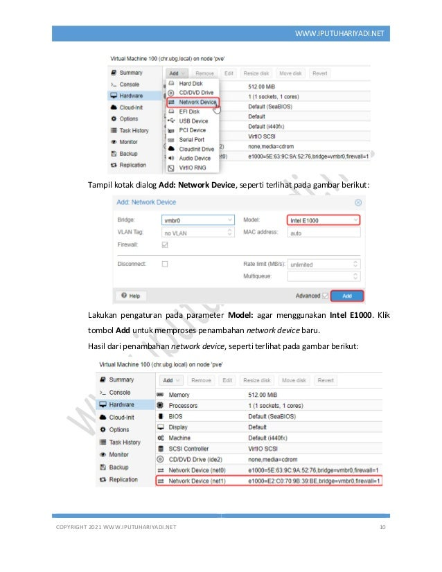 COPYRIGHT 2021 WWW.IPUTUHARIYADI.NET 10 WWW.IPUTUHARIYADI.NET Tampil kotak dialog Add: Network Device, seperti terlihat pa...