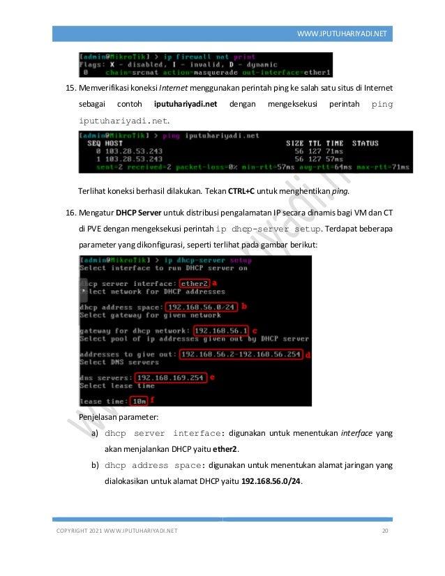 COPYRIGHT 2021 WWW.IPUTUHARIYADI.NET 20 WWW.IPUTUHARIYADI.NET 15. Memverifikasi koneksi Internet menggunakan perintah ping...