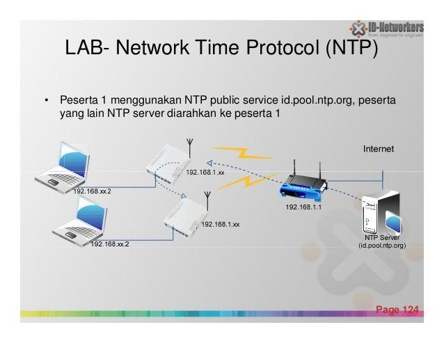 LAB- Network Time Protocol (NTP) • Peserta 1 menggunakan NTP public service id.pool.ntp.org, peserta yang lain NTP server ...
