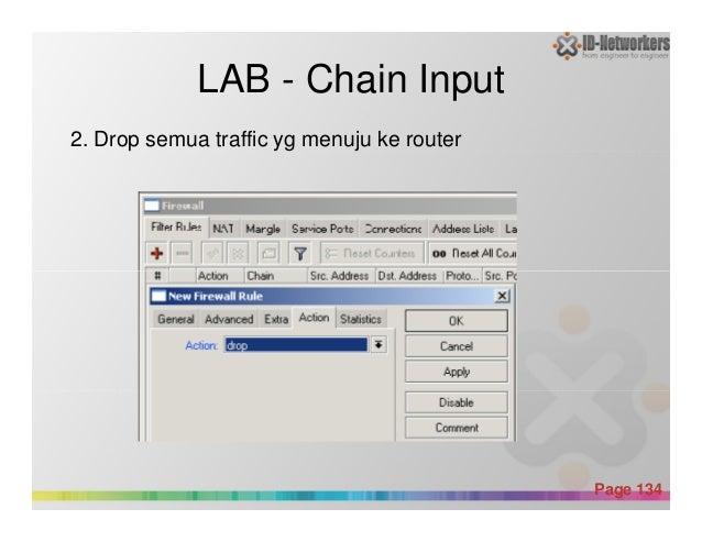 LAB - Chain Input 2. Drop semua traffic yg menuju ke router Powerpoint Templates Page 134