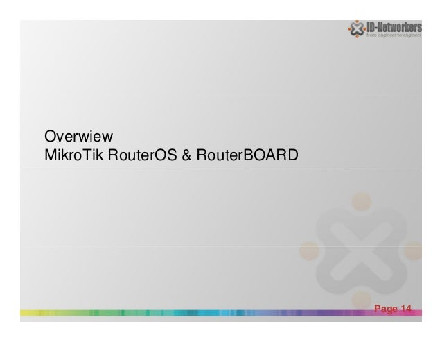 Overwiew MikroTik RouterOS & RouterBOARD Powerpoint Templates Page 14