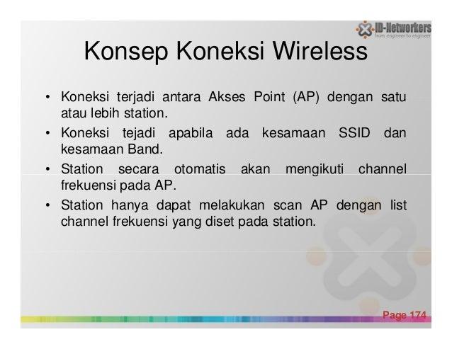 Konsep Koneksi Wireless • Koneksi terjadi antara Akses Point (AP) dengan satu atau lebih station. • Koneksi tejadi apabila...