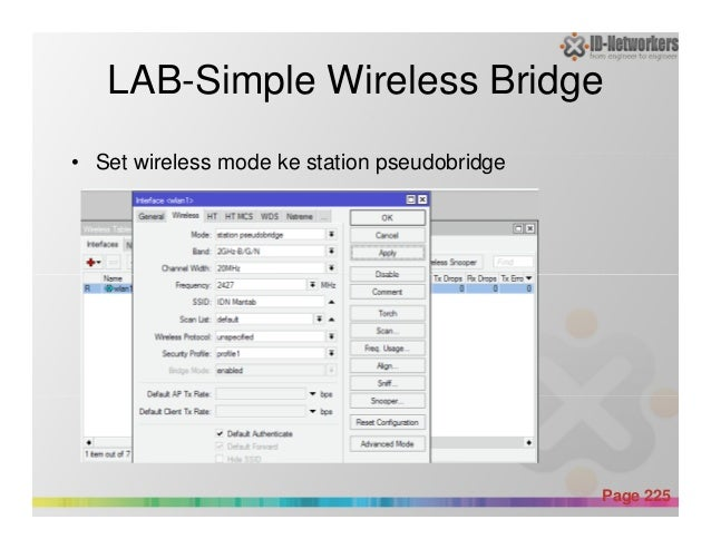 LAB-Simple Wireless Bridge • Set wireless mode ke station pseudobridge Powerpoint Templates Page 225