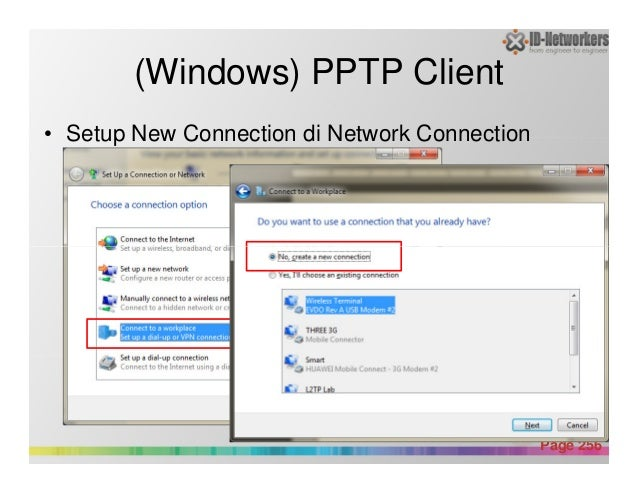(Windows) PPTP Client • Setup New Connection di Network Connection Powerpoint Templates Page 256