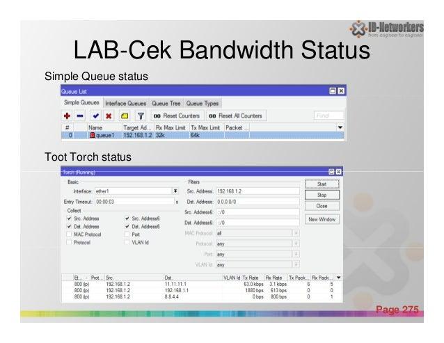 LAB-Cek Bandwidth Status Simple Queue status Toot Torch status Powerpoint Templates Page 275