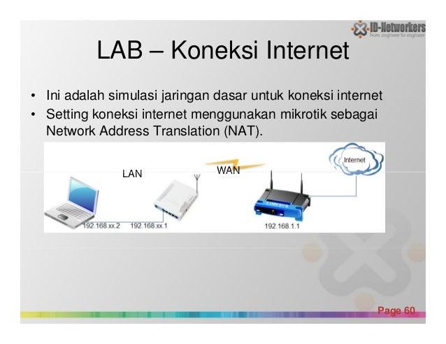 LAB – Koneksi Internet • Ini adalah simulasi jaringan dasar untuk koneksi internet • Setting koneksi internet menggunakan ...