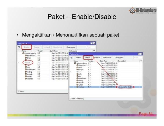 Paket – Enable/Disable • Mengaktifkan / Menonaktifkan sebuah paket Powerpoint Templates Page 84