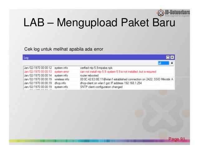 LAB – Mengupload Paket Baru Cek log untuk melihat apabila ada error Powerpoint Templates Page 91