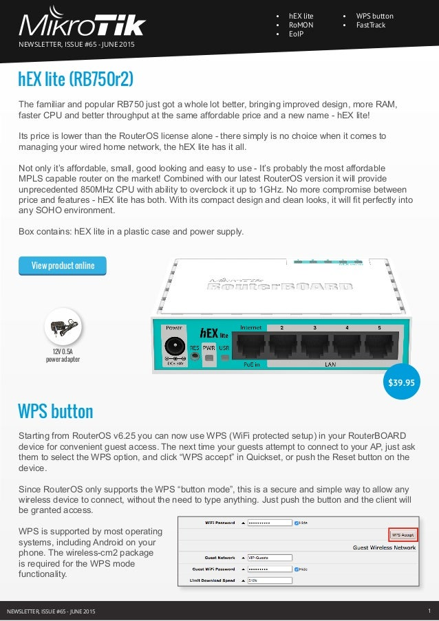 MikroTik newsletters from #60 to #67