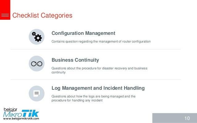 Mikrotik RouterOS Security Audit Checklist by Akbar Azwir