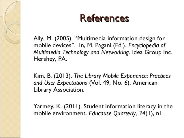 Using Mobile Technology in Information Literacy Skills Training to Enhance Students' Learning Experience